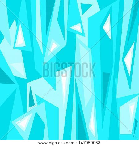 An abstract digital artwork featuring angular shapes in tones of blue in a square format.