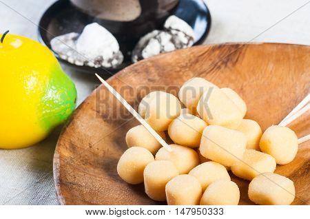pastillas de leche or milk candies, Filipino delicacies or pasalubongs
