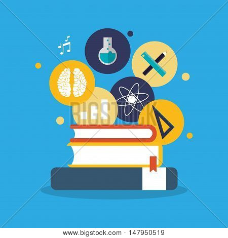 flat design education and academia related icons image vector illustration