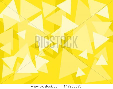 An abstract digital pattern created with triangles of various sizes in shades of yellow.