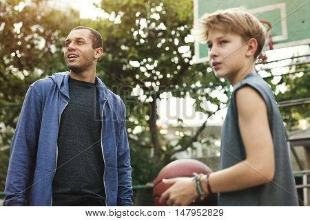 Coaching Basketball Sport Athlete Exercise Game Concept