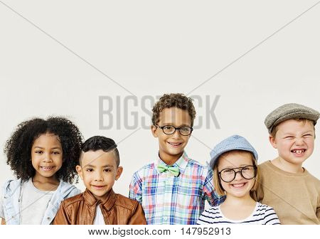 Kids Fun Children Playful Happiness Retro Togetherness Concept