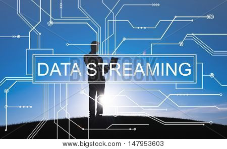 Data Streaming Technology Information Transfer Concept