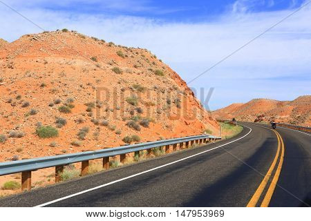 Motorcycling vacation through Glen Canyon National Park, Utah