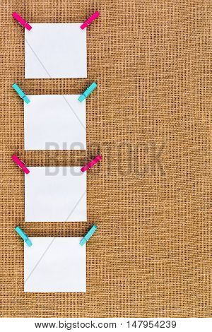 Side Border Of Neatly Hanging Blank Notepads