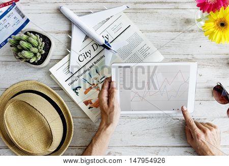 Analysis Information Statistics Report Graphic Concept