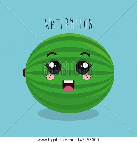 cartoon fruit facial expression design isolated vector illustration esp 10