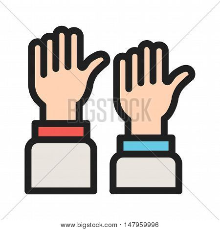 Voting, public, elections icon vector image. Can also be used for elections. Suitable for use on web apps, mobile apps and print media.