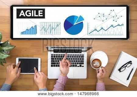 Agile Agility Nimble Quick Fast Concept