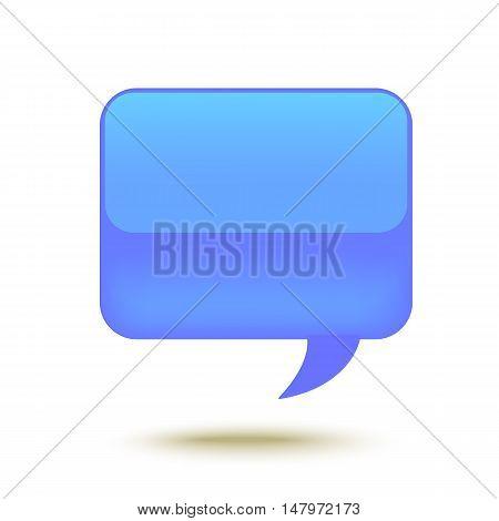 Realistic Glass Speech Bubble for web design. Vector illustration