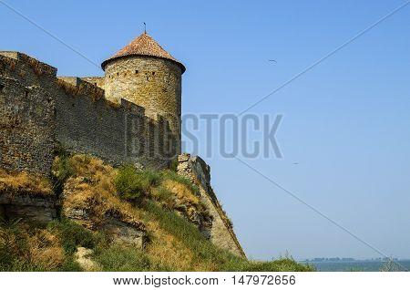 Historical defense castle ancient stone monument of architecture