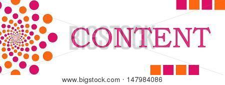 Content text written over pink orange background.