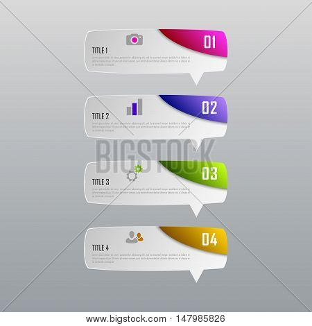 Infographic business concept with 4 options, parts, steps