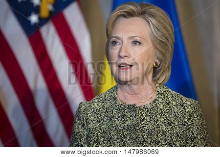 Candidate For Presidency Of The United States Hillary Clinton