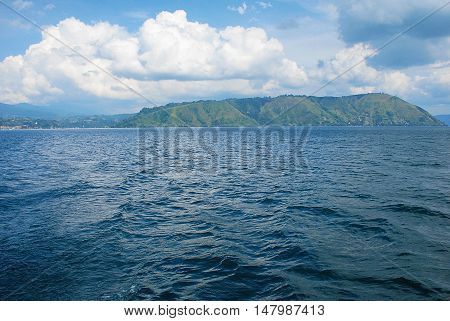 Blue Lake in parapat Indonesia sumatra island