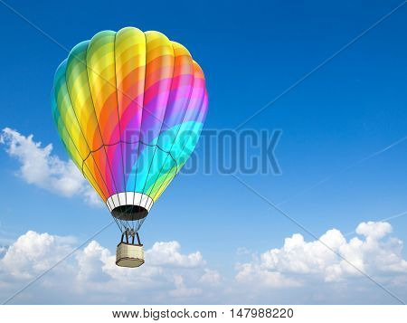 hot air balloon - 3d illustration