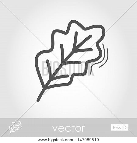 Autumn Leaves Oak outline icon. Harvest. Thanksgiving vector eps 10