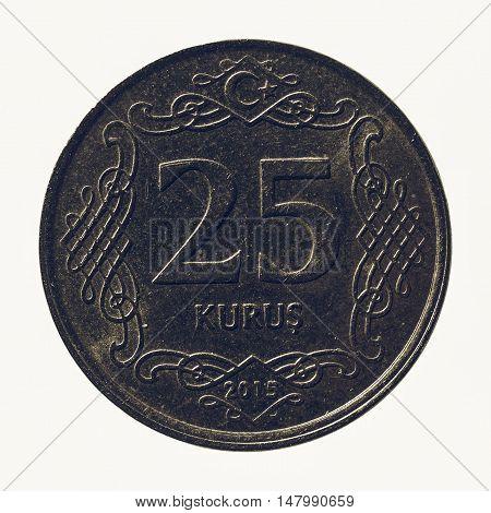 Vintage Turkish Coin