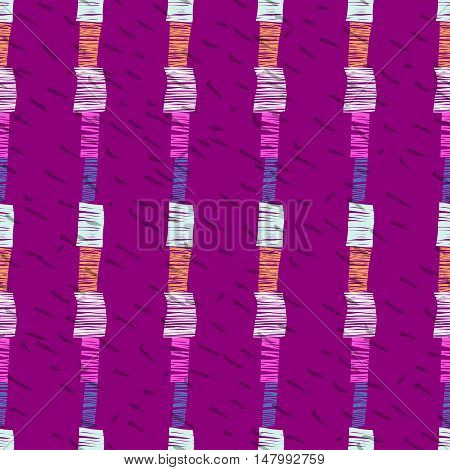 Abstract seamless pattern, vector stripe ornament. Digital paper