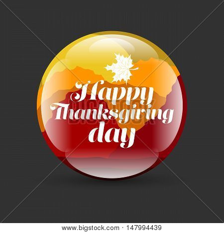 Happy Thanksgiving Day on a black background