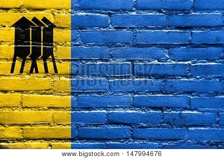 Flag Of Porto Velho, Rondonia, Brazil, Painted On Brick Wall