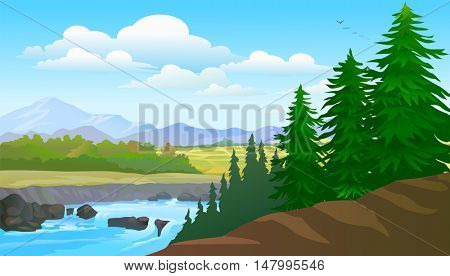 Pines and Lake View