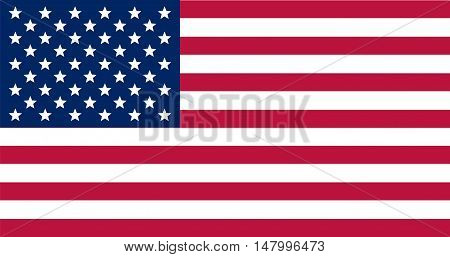 vector image of american flag. Flag USA. US Flag. Stripes and stars