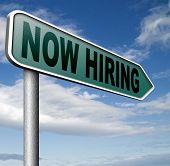 now hiring search job opening or offer for jobs vacancy help wanted 3D illustration poster