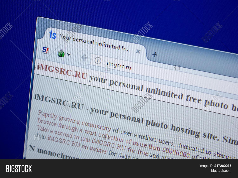 Ryazan Russia June 26 2018 Homepage Of Imgsrc Website On The Display