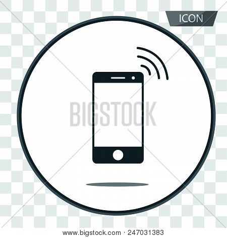 Wireless Icon Vector Mobile Phone Wireless Symbol Isolated On Background.