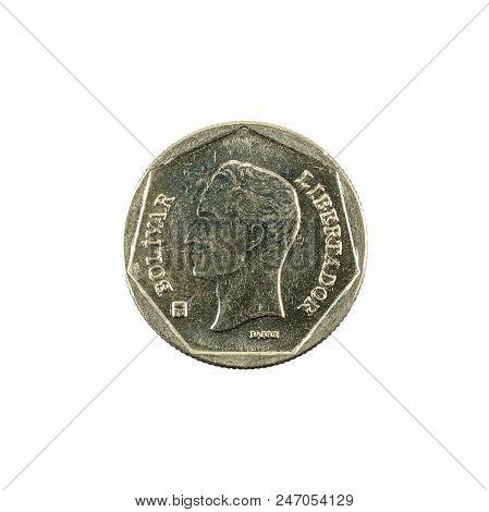 100 Venezuelan Bolivar Coin (2001) Reverse Isolated On White Background