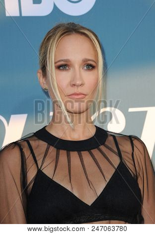 Anna Camp at the Los Angeles premiere of HBO's Limited Series 'Sharp Objects' held at the Cinerama Dome in Hollywood, USA on June 26, 2018.