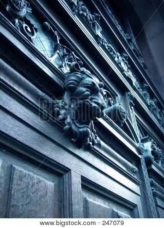 Dark Wood Door