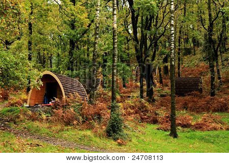 Camping Pods, Wooden, in trees Lake district