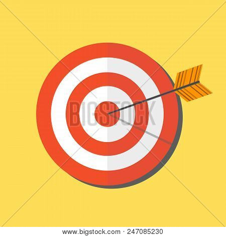Abstract Target Icon. Vector Target Icon. Image Target Icon. Color Target Icon. Flat Target Icon. Ta