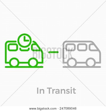 Order Delivery And Logistics Line Icon For Online Shop Web Design. Vector Symbol Of Order In Tansit