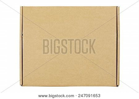 Top View Of Cardboard Box Isolated On White