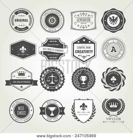 Emblems, Badges And Stamps Set - Awards And Seals Designs