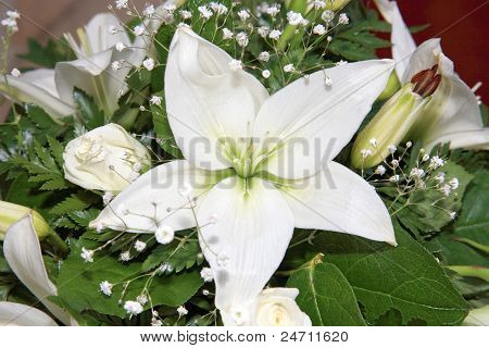 White Flower On A Wedding Decoration Indoor
