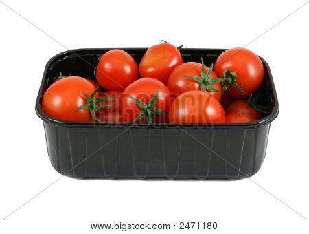 Tomatoes In Black Box