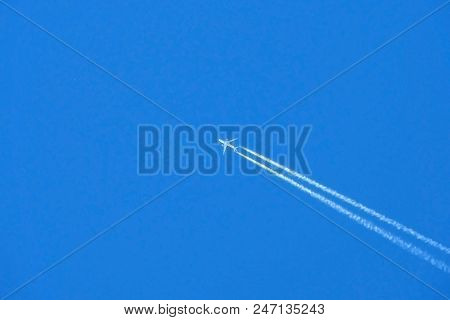 Military Supersonic Russian Fighter Aircraft. The Army Plane Takes Off Into The Blue Sky At High Spe