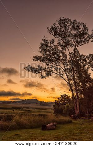 A Sunset Scene At Tortoni Near Maclear In The Eastern Cape Province