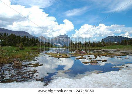 Reflection in Glacier National Park.