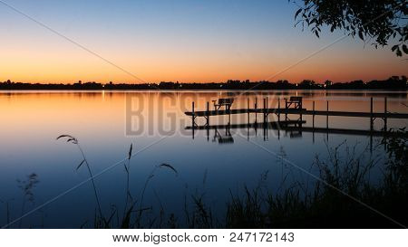 Bemidji, Minnesota, The Best Town In Minnesota Is Seen Across Lake Irving, The First Lake On The Mis