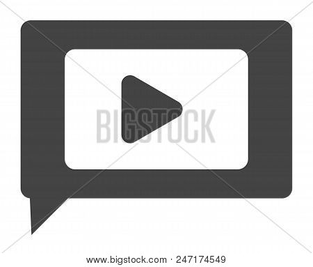Video Chat Icon On White Background. Flat Style. Video Chat For Your Web Site Design, Logo, App, Ui.