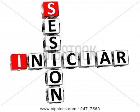 3D Iniciar Sesion Crossword