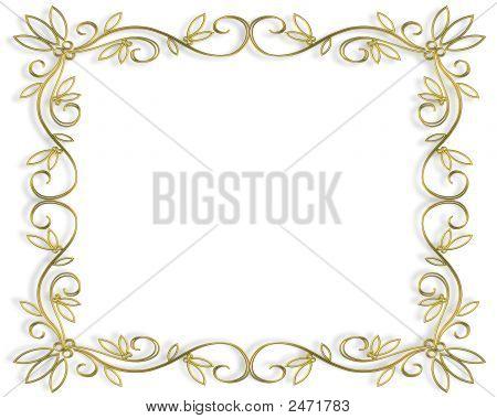 Gold Filigree Frame