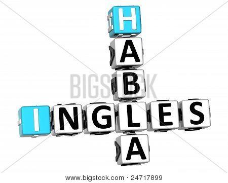 3D Habla Ingles Crossword
