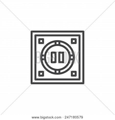 Japanese Dohyo Outline Icon. Linear Style Sign For Mobile Concept And Web Design. Sumo Arena Top Vie