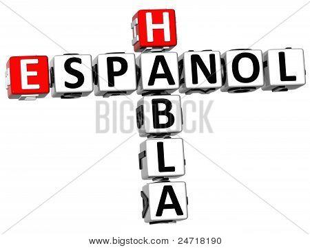3D Habla Espanol Crossword